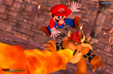 Mario Vs. Bowser: Dodging the Fire Breath by ShadowNinjaMaster