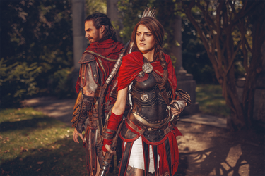 You have the choice: Alexios or Kassandra by MsSkunk