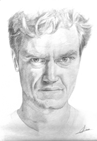 Michael Shannon Portrait - Penicl on paper by CMorzy