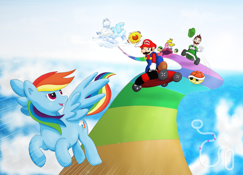 Rainbow Kart by Darksearcher14