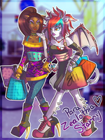 Monster High- Clawdeen andKimberly for Zealothia by ShiChel
