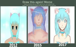 Draw this again meme Mew Ice by IIaila