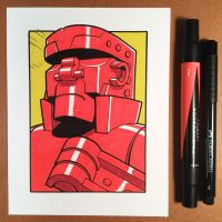 March of Robots Day 15: Red Rocker by D-MAC