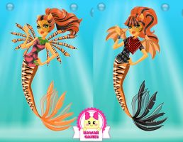 Monster High Great Scarrier Reef Toralei Stripe by heglys