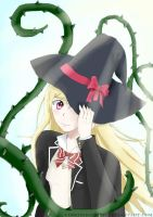 A witch's appearance (Shiraishi Urara) by Co0kIeMoNeStEr