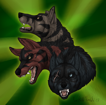 GNG- Like a three-headed monster by Narncolie