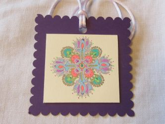 Gel Pen Hanging Mandala Ornament by Jeanne Kasten by mandalagal