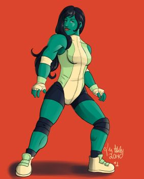 She-Hulk Color Scheme by lizstaley