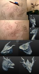 Conceptart for life sized dragon 'Galun' by akeyla