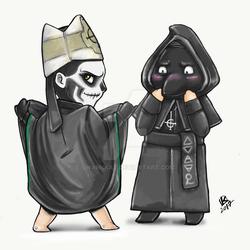 Papa II and a Nameless Ghoul Chibi by swankkat