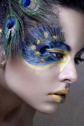 Peacock face by miralkhan