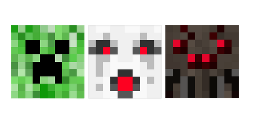 Creeper, Ghast, Spider, Oh My by psychoren