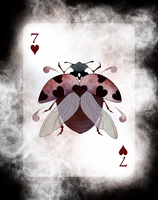 Beetle Royale Playing Cards - 7 of Hearts by atomantic