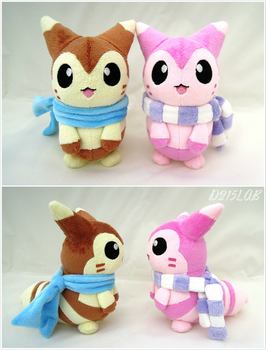 Furret plushies by d215lab
