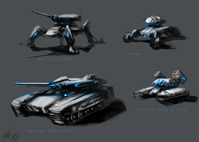 Federation Military Vehicles by PeterPrime