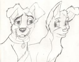 Angel and Scamp by FaPingMulan