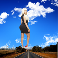 Giantess Nicki Minaj (Road to Minaj) by Multiplexmovies