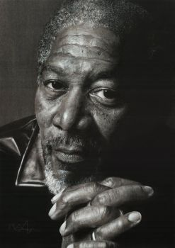 Morgan Freeman by Mark-Anstis