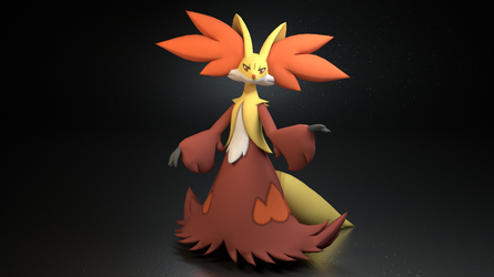#655. Delphox by TheAdorableOshawott
