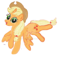 Applejack fanart MLP NOT MY CHARACTER by WhiteLedy