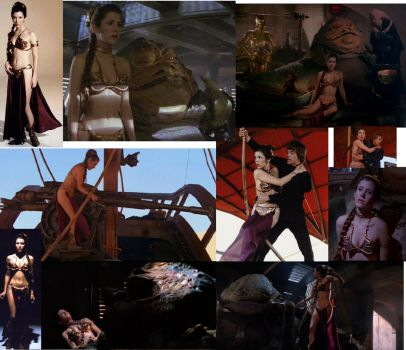 Slave Leia Collage by MADBlacklord