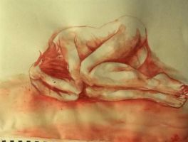 Second Blood painting by Deidaraloveshismommy