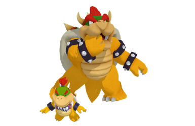 Bowser and Bowser Jr (Models Pack DL) by AnmeGirl