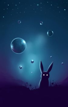 Bunny and Bubbles by L-Y-N-S