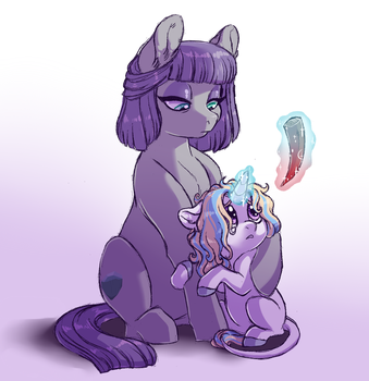 Maudie and Moony by Lopoddity