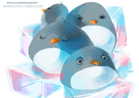 Plump Penguins by Pochi-mochi