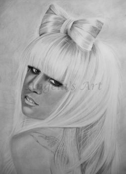 LADY GAGA 5 by AngelasPortraits