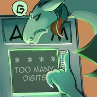 Daily Doodle: Too much digit by CountDraggula