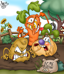 The Root Pack (REDRAWN) by Chrissie-Boo