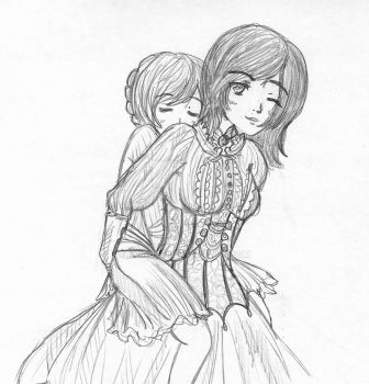 Yuri and her daughter by DriRose