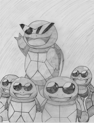 PokeSeries (Pencil) #007 Squirtle by TwiggyTwix