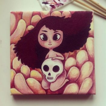 First Acrylics Painting by NoA85