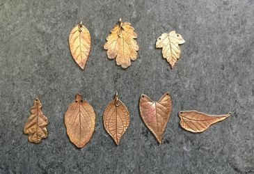 Copper and bronze leaves by NoctiLuna