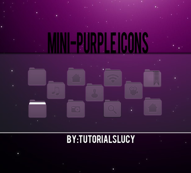 mini-Purple icons by tutorialslucy