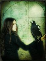Girl with Magpie by MagpieMagic