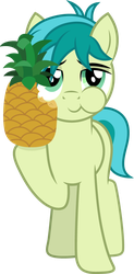 Sandbar eating a pineapple by CloudyGlow