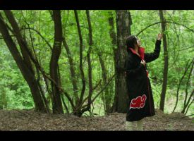 Uchiha Itachi: In the forest by Maler-D