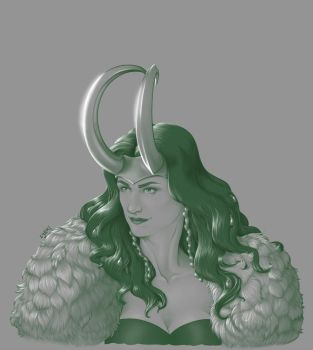 Lady Loki - Paints by MerianMoriarty