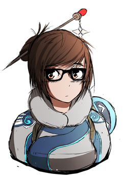 Mei Sketch Colour - Overwatch by Chrissy743