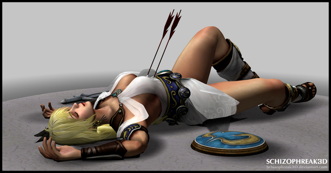 Sophitia Alexandra - Fallen Greek Goddess by Schizophreak3D