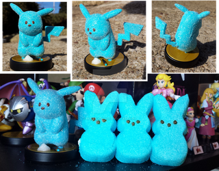 Peepachu Amiibo Custom by multifaceted