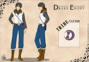 Character Sheet Commission: Drake by StarSophi