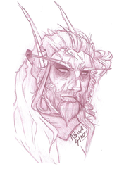 Amo'rivel Head Shot- Traditional by albinostag