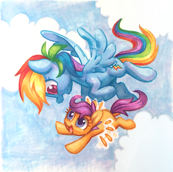 RD and Scoots copics by Celebi-Yoshi