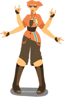 Gem Fusion - Orange Sunstone by Ace1999