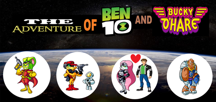 THE ADVENTURES OF BEN 10 AND BUCKY O'HARE by crossover-619